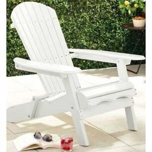 Merry Products Painted Folding Adirondack Lawn Chair