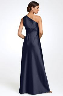 New Adrianna Papell One Shoulder Satin Jeweled Gown 8