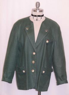 Admont Linen Green Women Bavaria Gorsuch Summer Dress Suit Jacket Coat
