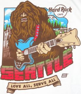 Hard Rock Cafe Seattle 2010 City Tee T Shirt XXL 2X Double Extra Large