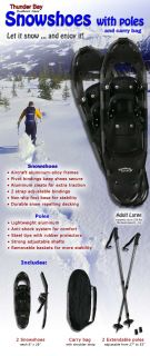 Adult Winter Snow Shoes w/ Poles & Bag Snowshoes