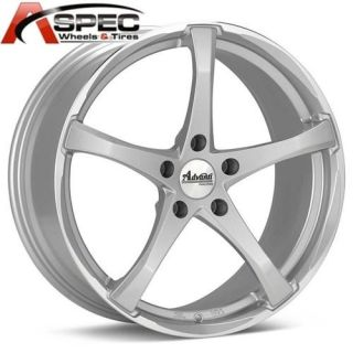 18X8 Advanti Racing Denaro 5x114.3 +42 SILVER 5X4.5 RIM WHEELS FIT