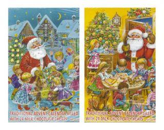 Wawi Traditional German Chocolate Christmas Advent Calendar   6pk