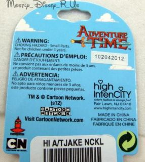Adventure Time with Finn and Jake Rubber Charm Pendant Necklace VHTF