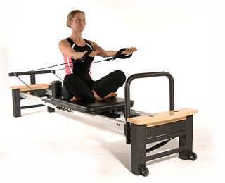 Pro XP 556 Reformer Aero Pilates Workout w Cardio Rebounder