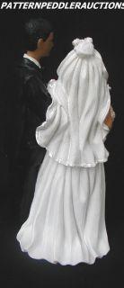 African American Black Bride&Groom Wedding Figurine NIB