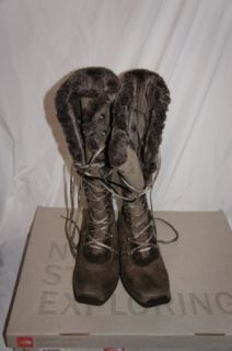North Face Womens Adrianne IV Winter Boots Brown Sz 9 5
