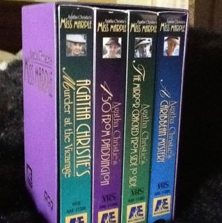 Agatha Christies Miss Marple Collection 1 VHS 1994 4 Tape Set