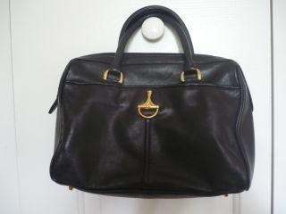 New Etienne Aigner Black Leather Hobo Handbag Bag Tote