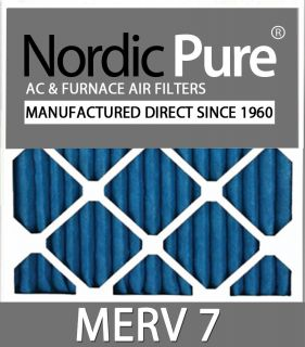 25x25x1 Merv 7 Air Conditioner Furnace Filters Qty 6