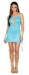Egyptian Goddess Queen Cleopatra Sexy Costume Isis Greek Roman Antony