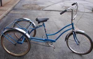 Vintage  Tricycle 3 Wheel Adult Bike Bicycle 17 Frame Blue