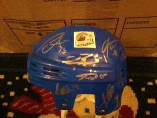 2011 2012 Norfolk Admirals Hockey AHL Team Signed Logo Mini Helmet COA