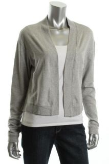Aiko Gray Modal Ruffle Back Open Front Cardigan Top Shirt Jacket s