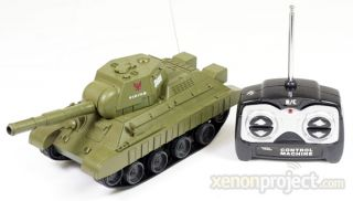 RC Remote control battery operated Mini air soft battle tank Toy Green
