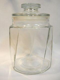 vintage large lance snack cracker glass jar