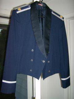 USAF US Air Force Mens Officer Mess Dress Blue Tuxedo Uniform Jacket