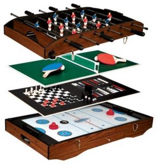 in 1 Game Center Table Tennis Air Hockey Foosball Chess
