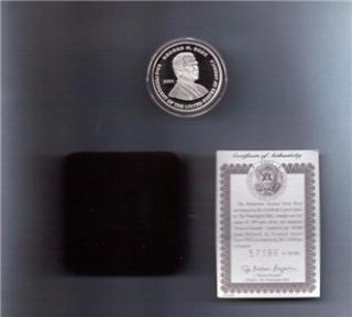 2001 George w Bush Al Gore Election 90 Silver Dollar Proof with COA