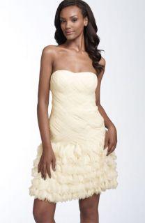 Aidan Mattox Niteline Black Strapless Tulle Dress 10