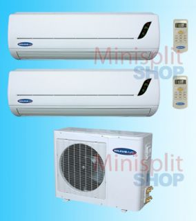 24000 BTU Soleus Dual Zone Air Conditioner A C Heat Pump Inverter