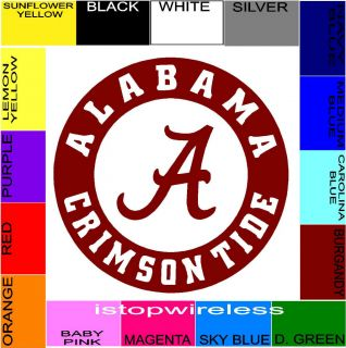 Decal Sticker Cornhole Choose Size Color Alabama Crimson Tide