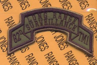 Team 1 82nd LRS Airborne Ranger Scroll Patch OD