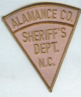 Alamance County North Carolina Sheriffs Department Patch