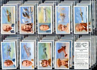 Tobacco Card Set Carreras Famous Airmen Airwomen Pilot 1936