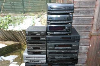 job lot hi fi systems sony kenwood akai aiwa stereo