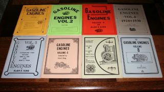 Volume Vintage Book Set Gasoline Engines by Alan C King Nice