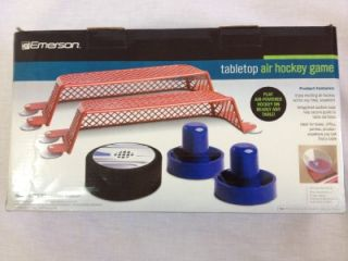 EMERSON TABLETOP AIR HOCKEY GAME PLAY AIR HOCKEY ON NEARLY ANY TABLE