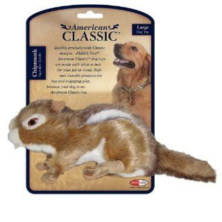 American Classic Plush Chipmunk Dog Toy Assorted Sizes