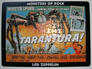 Led Zeppelin   Monsters Of Rock Tarantura Jigsaw Puzzle 100% Complete