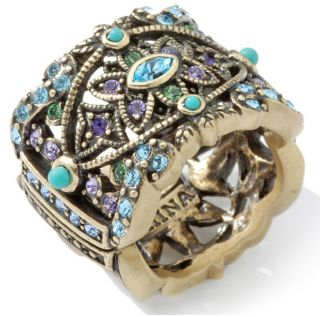 Heidi Daus Romance in Artistry Crystal Band Ring Size 7