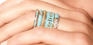 Justine Simmons Jewelry Set of 5 Believe Stackable Rings Size 6 $49