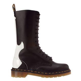 DOC Martens Guitar Rocker Black White 14 eye Leather Boots 10M 11 L 9