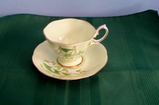 Royal Albert Bone China Cup Saucer Laurentian Snowdrop