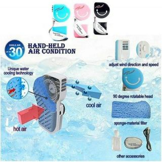 New Fashion USB Mini Portable Hand Held Air Conditioner Cooler Fan