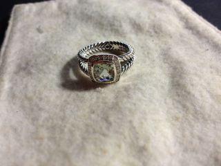 David Yurman Petite 7mm Albion Diamond Prasiolite Ring