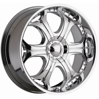 24X10 Chrome Wheel Akuza Spur 6x135 6x5 5