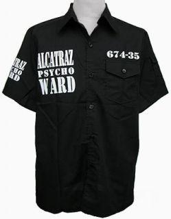 Alcatraz San Prison Mens Shirt Black Orange All Size