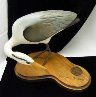 Ducks Unlimited Carved Blue Heron Bird Gordon Alcorn