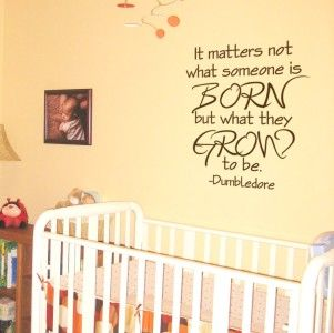Children Quote Decal   Dumbledore Harry Potter Quote   Kids Vinyl Wall