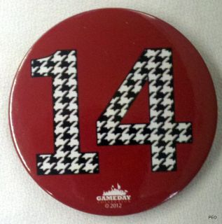 Alabama Crimson Tide Houndstooth 14 National Championships Pin Bama