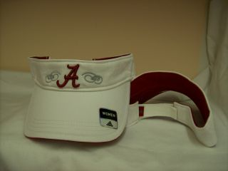Alabama Crimson Tide Adidas W574W Ladies Golf Visor Cap