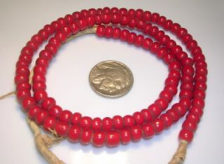 21.5 CORNALINE d ALEPPO DARK RED WHITE HEART BEADS   trade