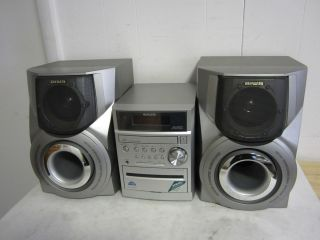 Aiwa XR EM50 CD Stereo System with 2 Way Speakers 30WATTES