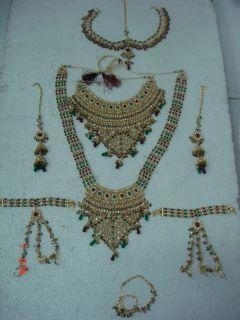 Gold Polish Polki Bridal Wedding Necklace Jodha Akbar 2