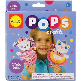 alex toys pops 2 tutu dolls 1191 peel stick glue 2 friends in tutus